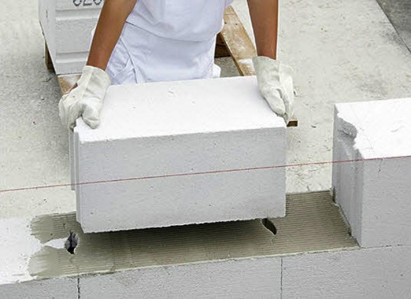 кладка газосиликатного блока